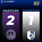 MAZATLÁN FC VINO DE ATRÁS Y VENCIÓ AL QUERÉTARO