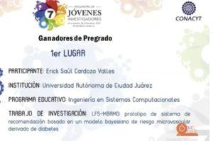 RECTOR DE LA UACJ CLAUSURA EL SEPTIMO ENCUENTRO DE JOVENES INVESTIGADORES